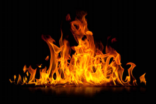 Fire wallpaper with black background