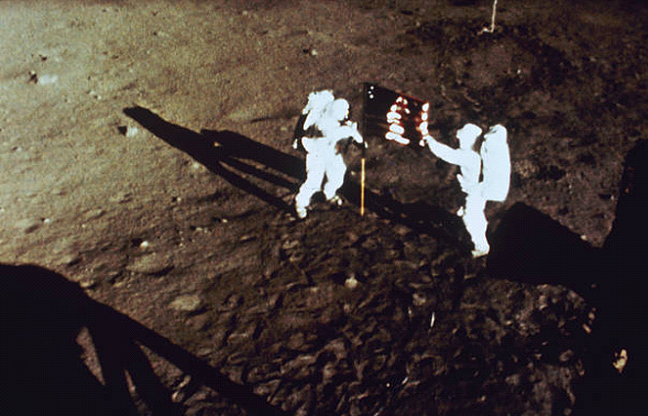 vintage photos of the moon landing