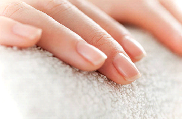 manicure nails stock photo