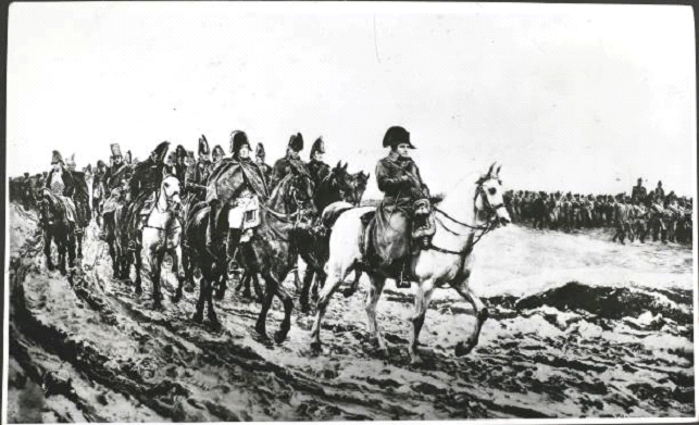 Invasion of russia soldiers black and white