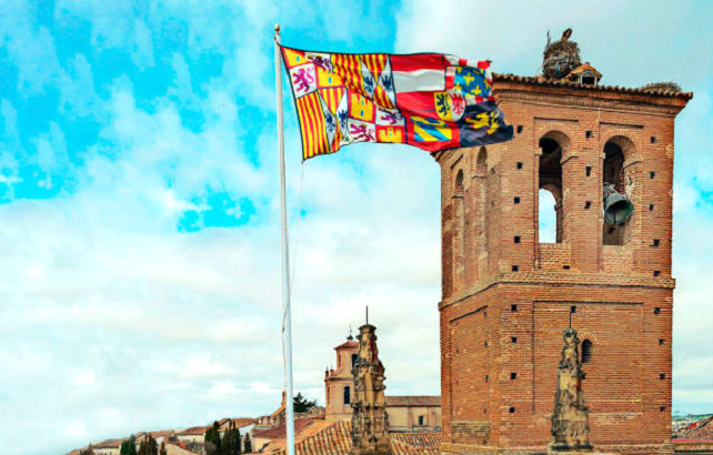 Portugal castle and flag
