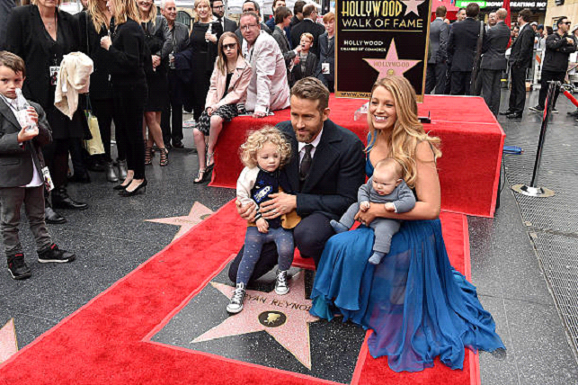 ryan reynolds kids red carpet shoot