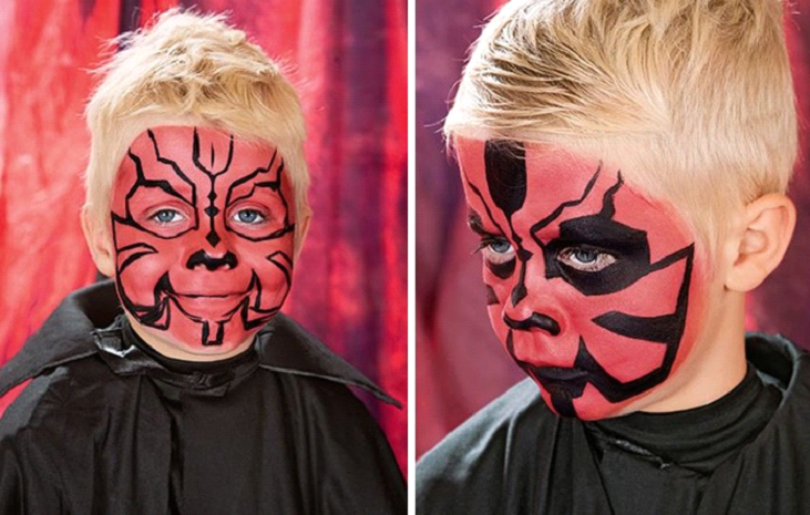 dath maul face paint easy at home