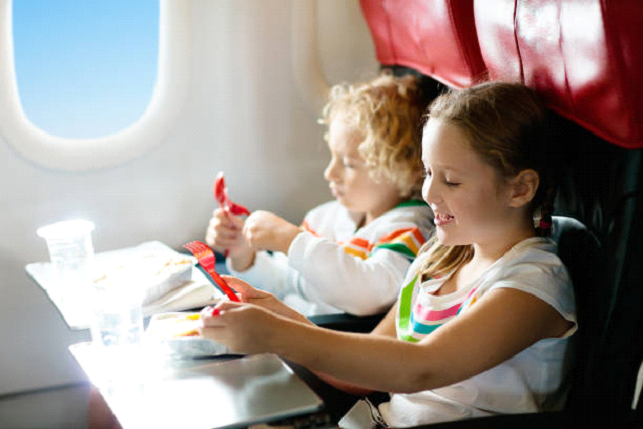 are large meals bad for kids on planes
