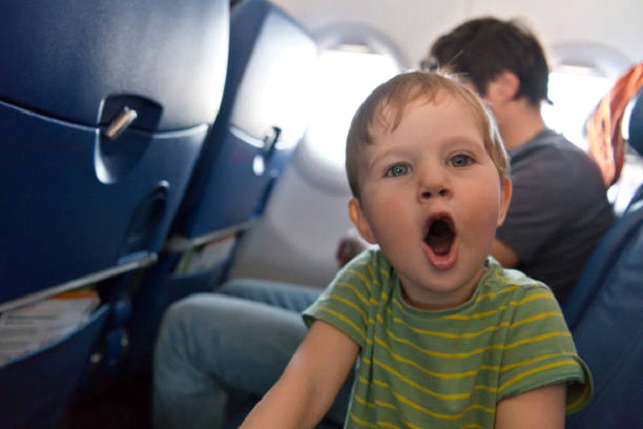 baby on airplane crying