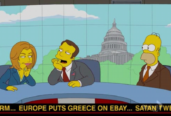 greeces financial crisis predicted by the simpsons