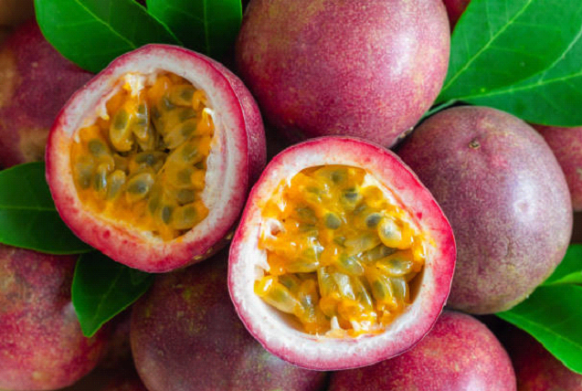 close up image of passion fruit