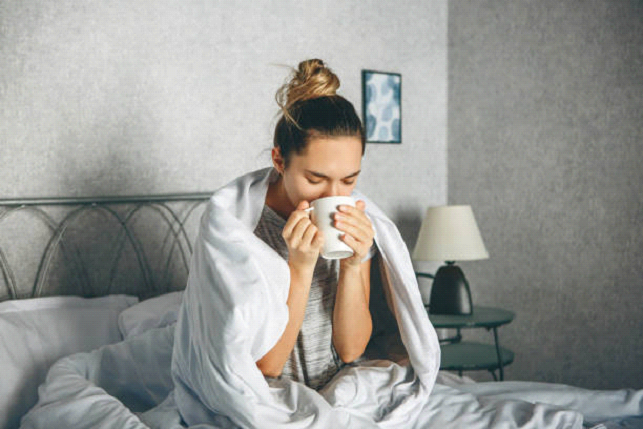 drinking tea when you are sick