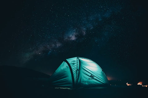 camping at night with kids