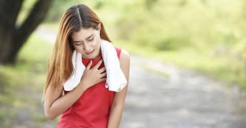 Asthma attack in the outdoors, while outside effects of pollution