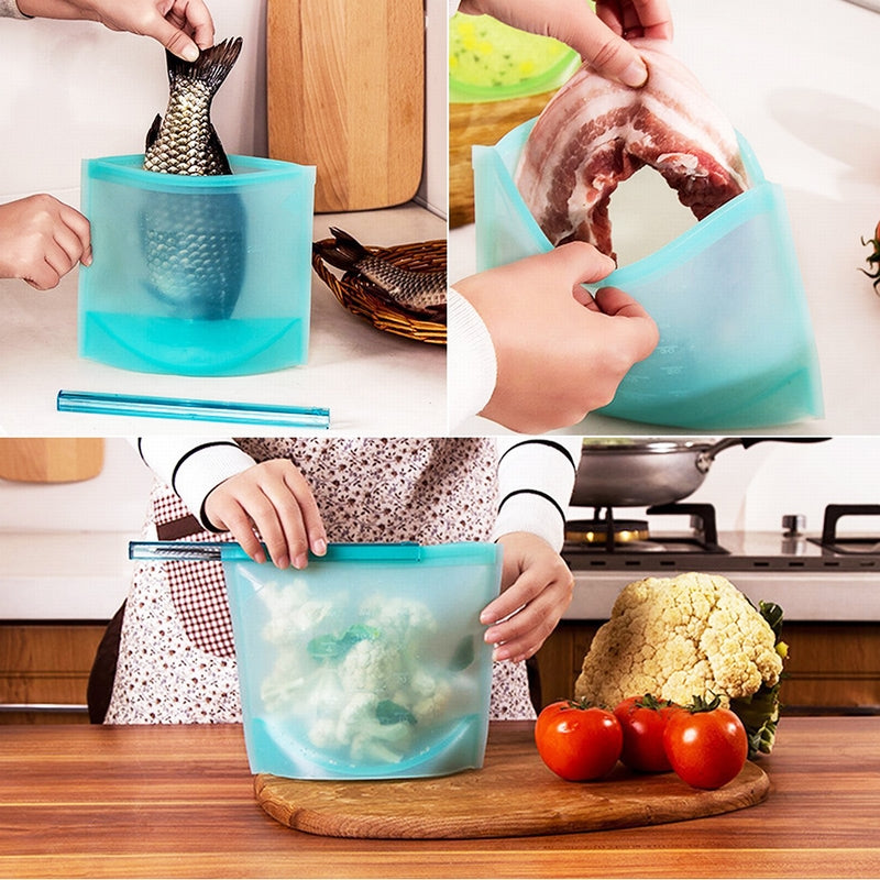 Resealable Silicone Food Bag