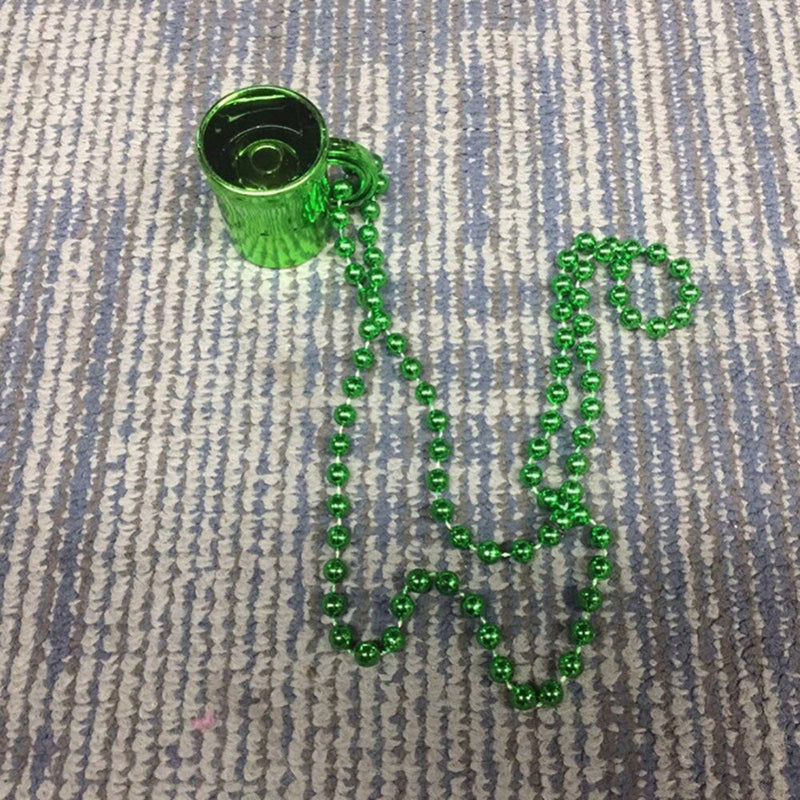 St Patrick Day Shot Glass Necklace