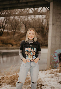 Long Live Cowboys Distressed Tee