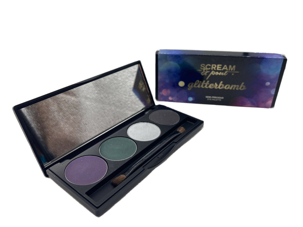 SCREAM&POUT GLITTERBOMB SEMI-PRECIOUS EYE PALETTE 4x1.5g SET OF 2