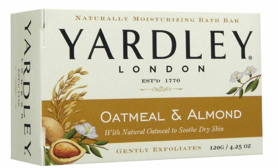 Yardley Naturally Moisturizing Bath Bar 4.25 oz EA, Oatmeal and Almond - BEAUTY FOR A FIVER