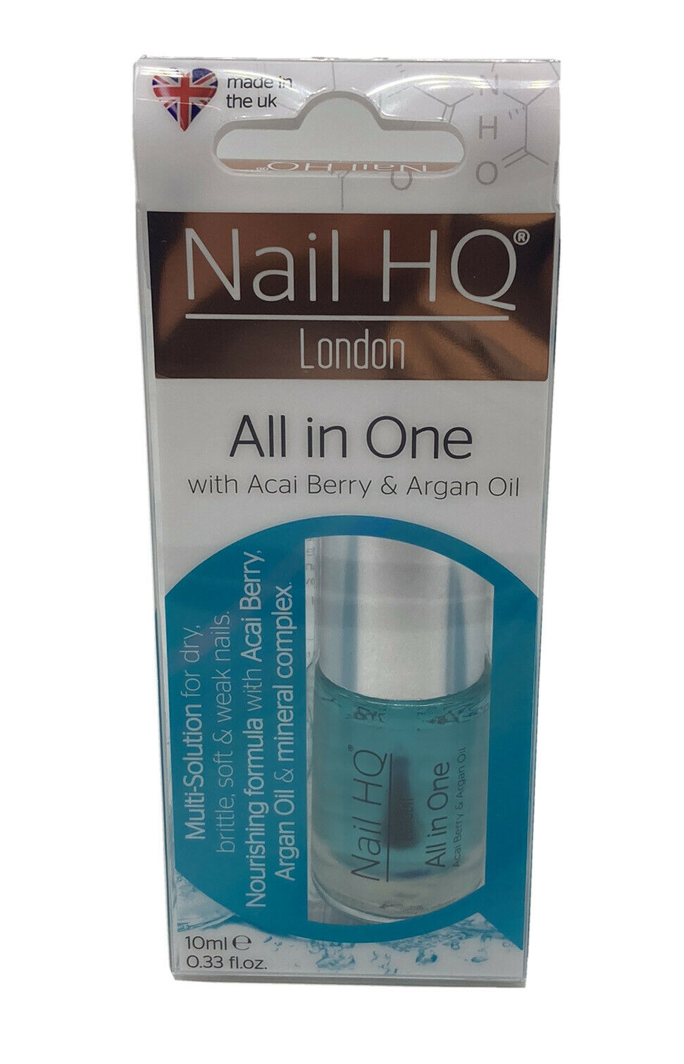 Nail Hq All In One With Acai Berry And Argan Oil 10ml