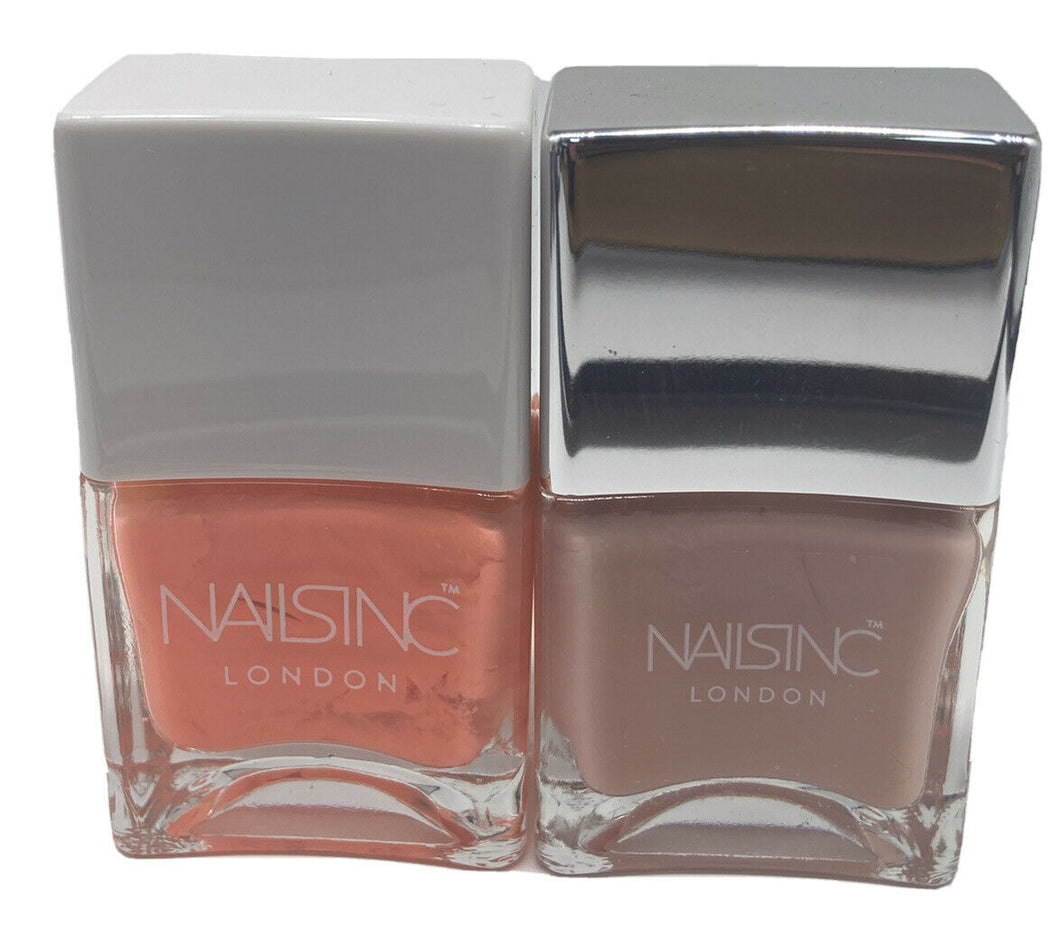 NAILS INC 'CORAL CLUB' AND 'THIRSTY NAILS' SET 2x14ml