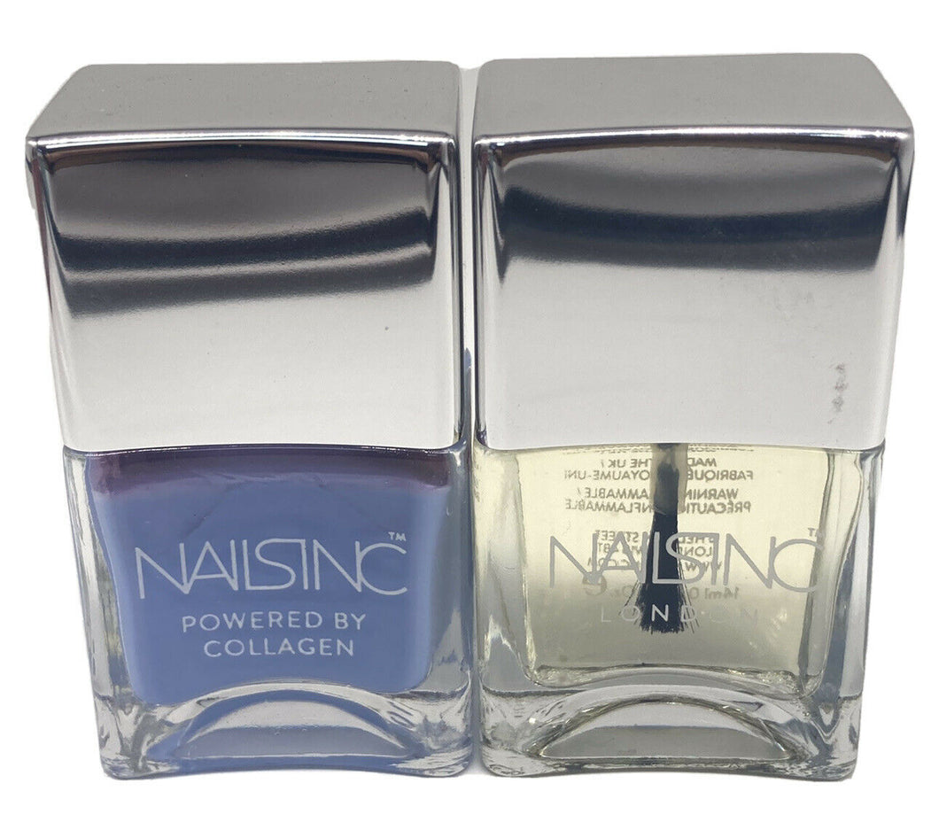 NAILS INC 'REGENTS PLACE WITH COLLAGEN' 'OVERNIGHT DETOX REPAIR MASK' SET 2x14ml