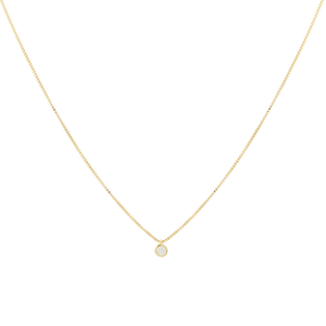 18k gold plated chain with a cubic zirconia spot