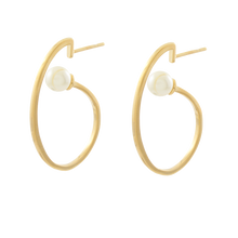 Load image into Gallery viewer, Pearl Wave Earrings