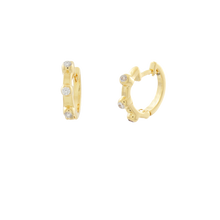 Load image into Gallery viewer, Medium Zirconia Hoop Earrings
