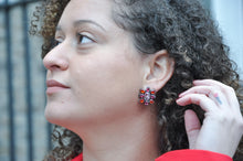 Load image into Gallery viewer, Zirconia Sun Earrings