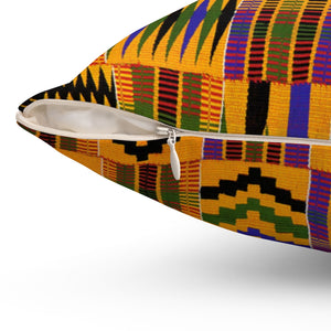 Kente Square Pillow - AFROSWAGG5