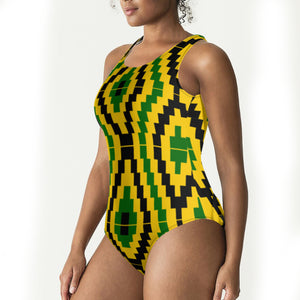 Hourglass kente Swimsuit - AFROSWAGG5