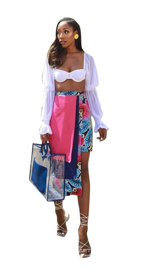 Color Block Skirt - AFROSWAGG5