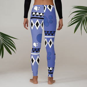 AfroAbstract Leggings (blue) - AFROSWAGG5