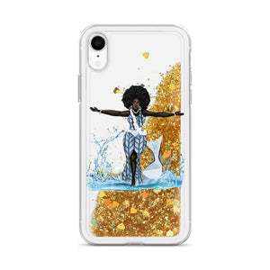 Yemoja Liquid Glitter IPhone Case - AFROSWAGG5