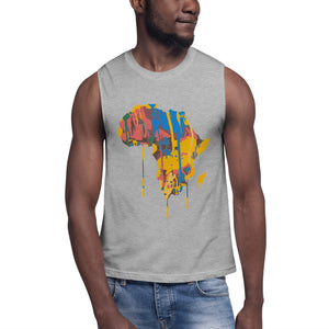Afroswagg Paint Africa Muscle Shirt