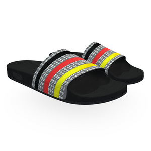 Fancy Stripe Men Slides - AFROSWAGG5