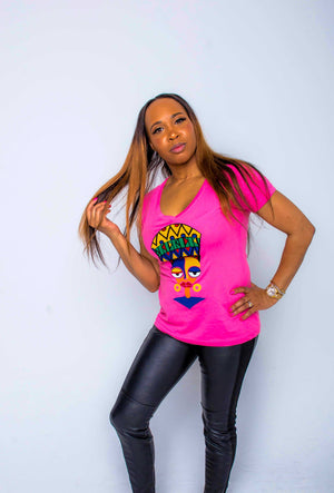 African Ethnic T-shirt ( African Queen) - AFROSWAGG5