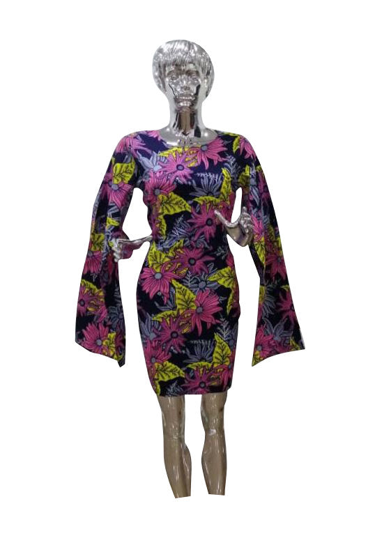 Mimi Cape Sleeve Dress - AFROSWAGG5