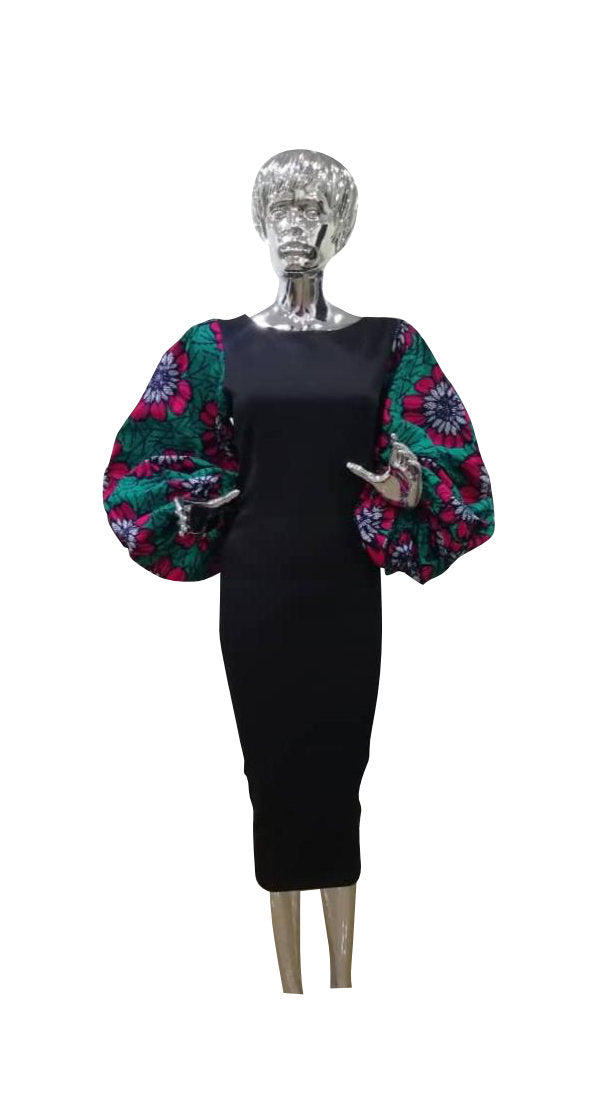 Ankara Exaggerated Sleeves - AFROSWAGG5