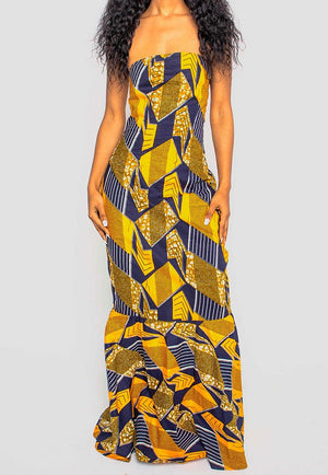 Ankara Maxi Dress - AFROSWAGG5