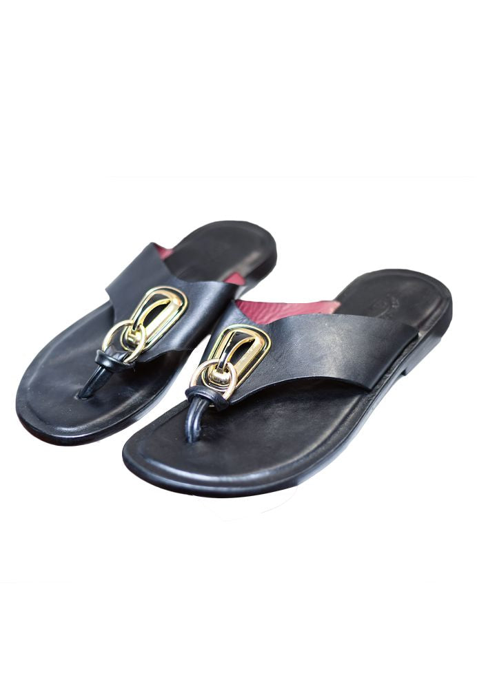 Afro Classic Leather Flip Flops - AFROSWAGG5