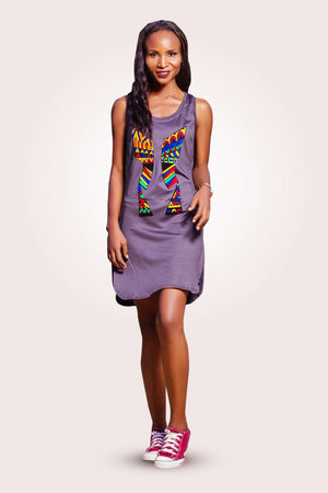 KENTE MIX MIDI DRESS - AFROSWAGG5