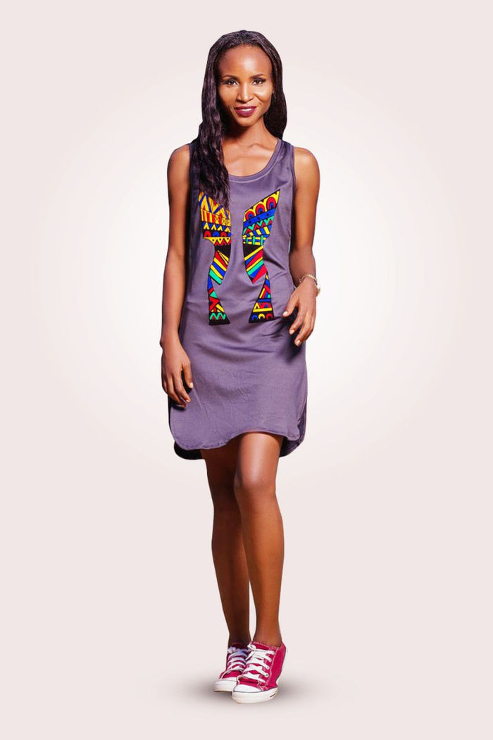 KENTE MIX MIDI DRESS