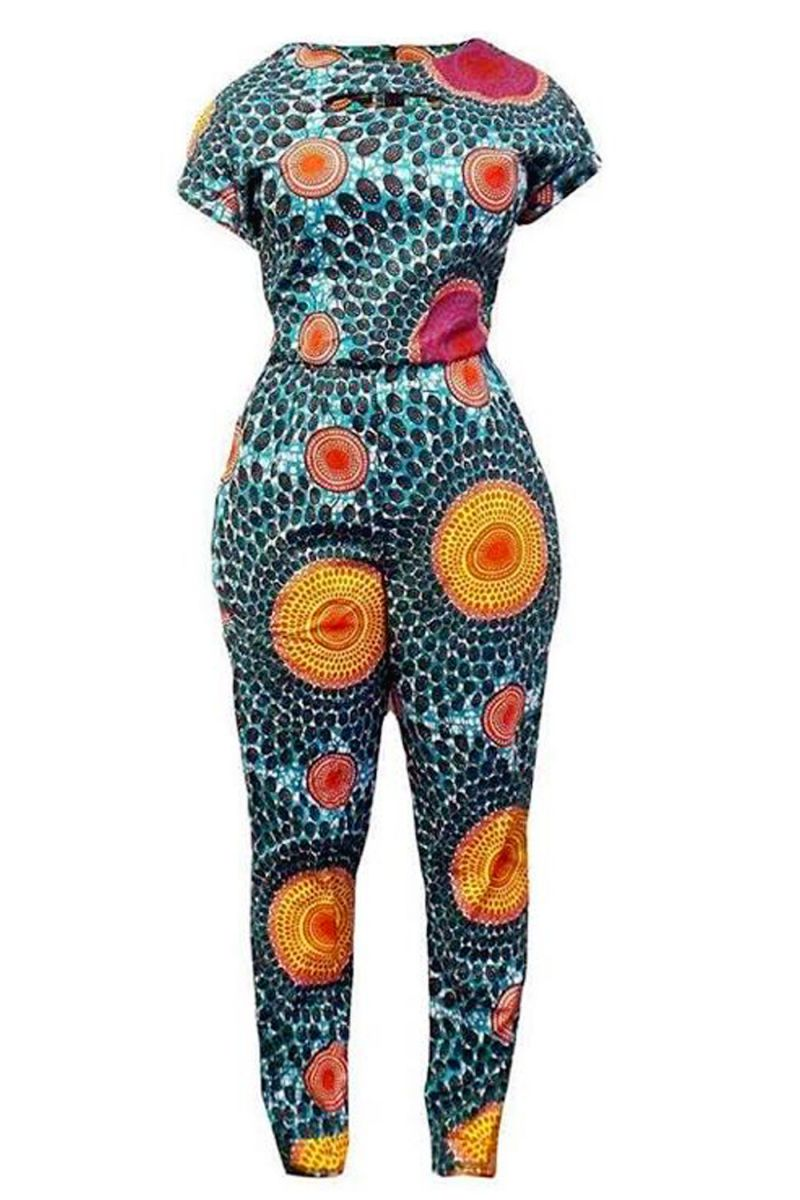 Patterned Jump Suit - AFROSWAGG5