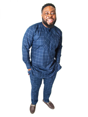 DEJI CHECKERED TWO PIECE - AFROSWAGG5