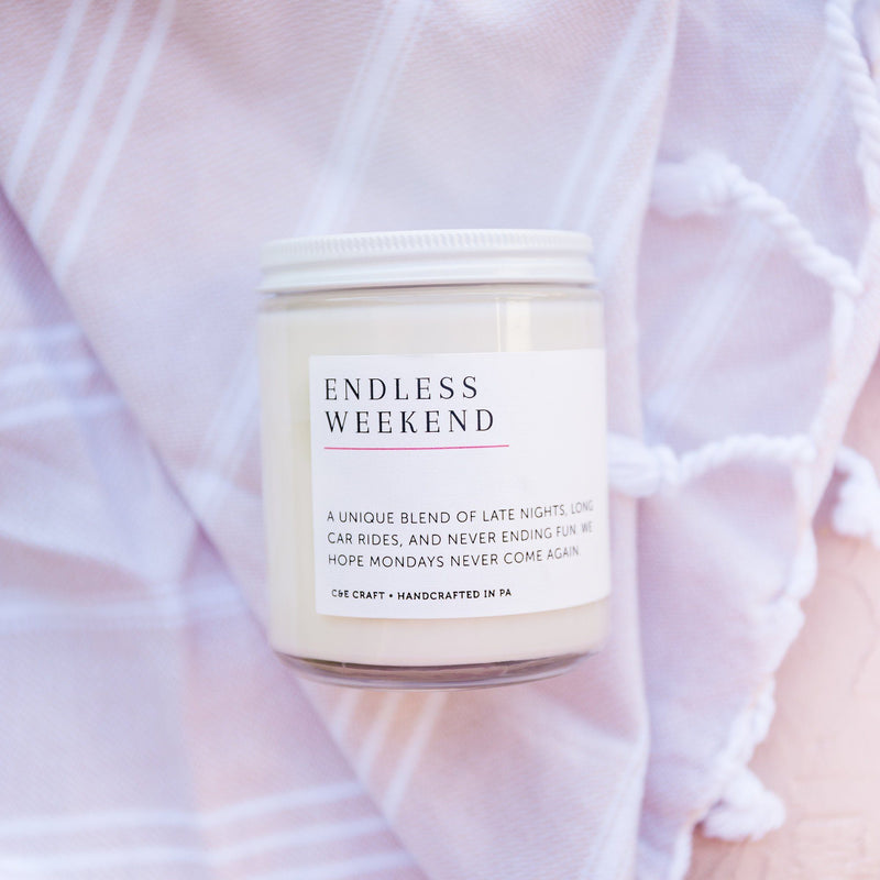 C&E - Endless Weekend Soy Wax Candle - Scented Candle - Gift for Her C & E Craft Co