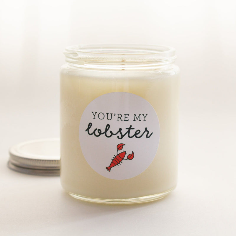 C&E - Friends You're My Lobster Candle - All Natural Soy Wax Candle - Perfect Gift for Friends Lover - Handmade Candle C & E Craft Co