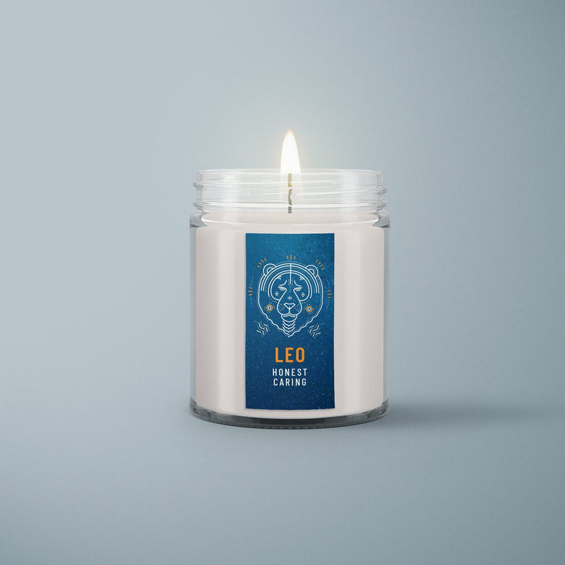 C&E - Leo - Zodiac Signs Candle - All Natural Soy Wax Candle C & E Craft Co
