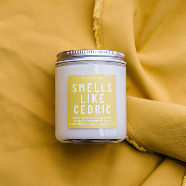 C&E - Smells Like Cedric - Soy Wax Candle - Pop Culture Candle - Smells Like Candle C & E Craft Co
