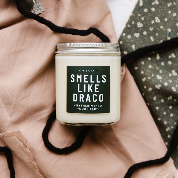 C&E - Smells Like Draco - Soy Wax Candle - Pop Culture Candle - Smells Like Candle C & E Craft Co