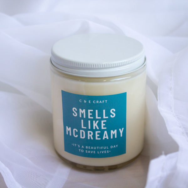 C&E - Smells Like McDreamy - Soy Wax Candle - Grey's Anatomy Commentary C & E Craft Co