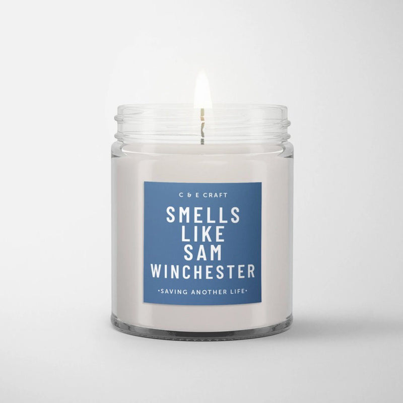 C&E - Smells Like Sam Winchester - Soy Wax Candle - Gift for Her - Pop Culture Candle C & E Craft Co