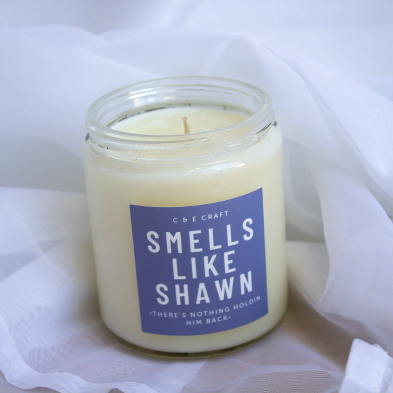 C&E - Smells Like Shawn Soy Wax Candle - Smells Like Candle - Pop Culture Candle C & E Craft Co
